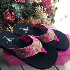 Corkys flip flops size 7